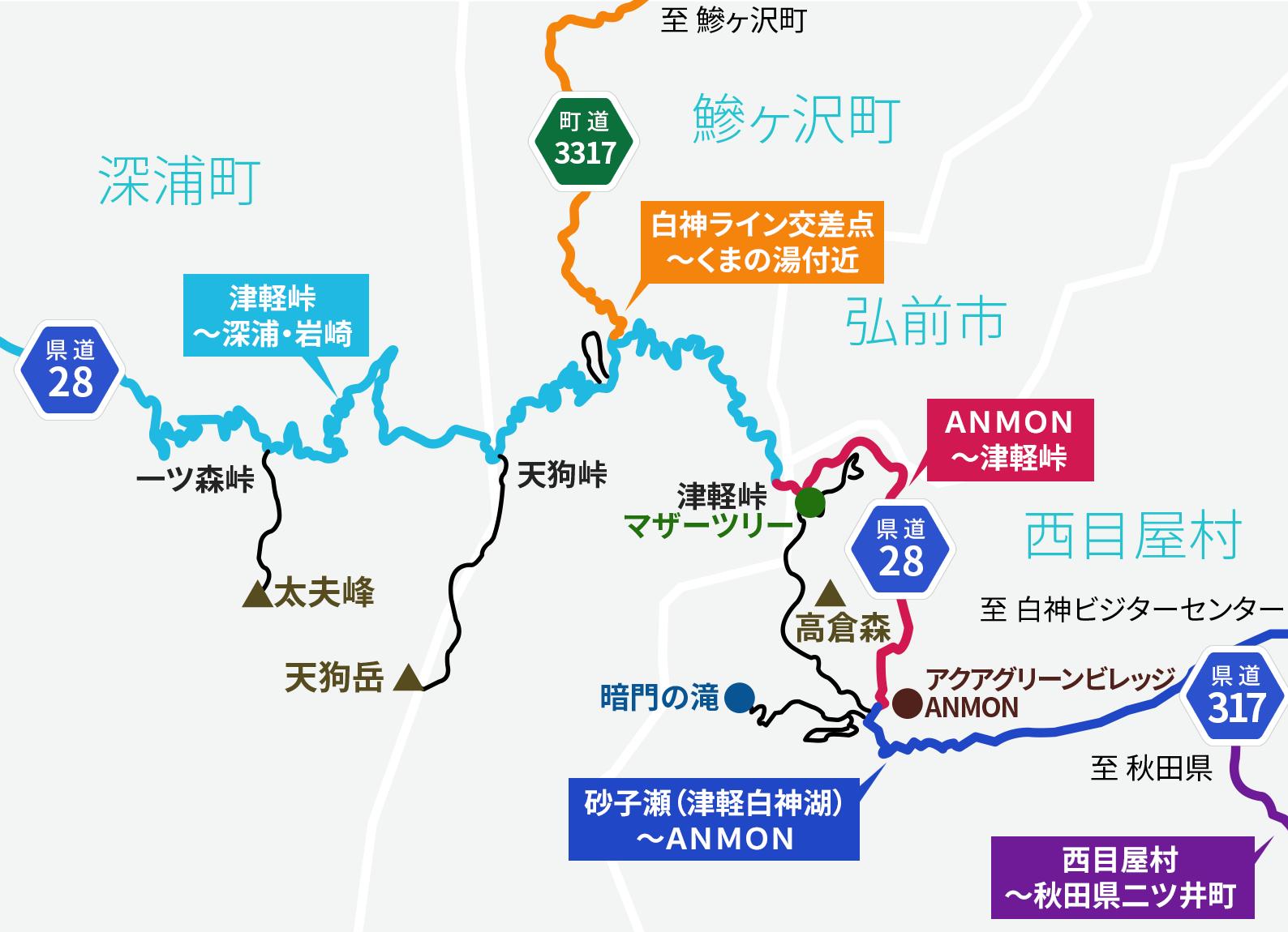 道路開通状況地図